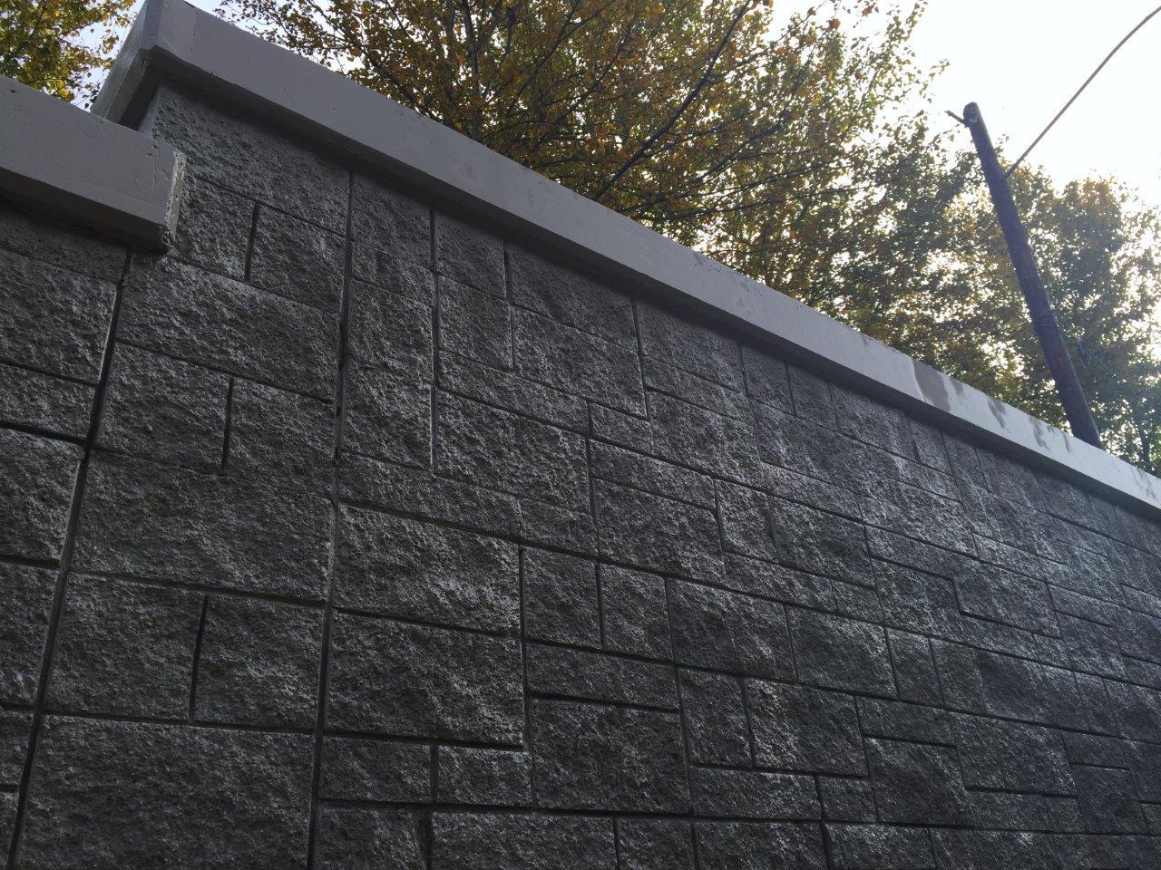 Concrete Sound Walls : Concrete masonry provides solution for sound wall