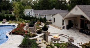 concrete, landscaping, outdoor living